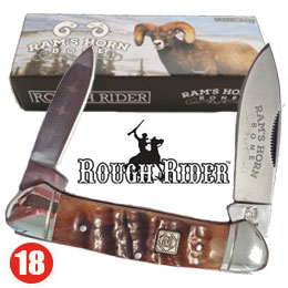 The Rough Rider Ram's Horn Canoe knife